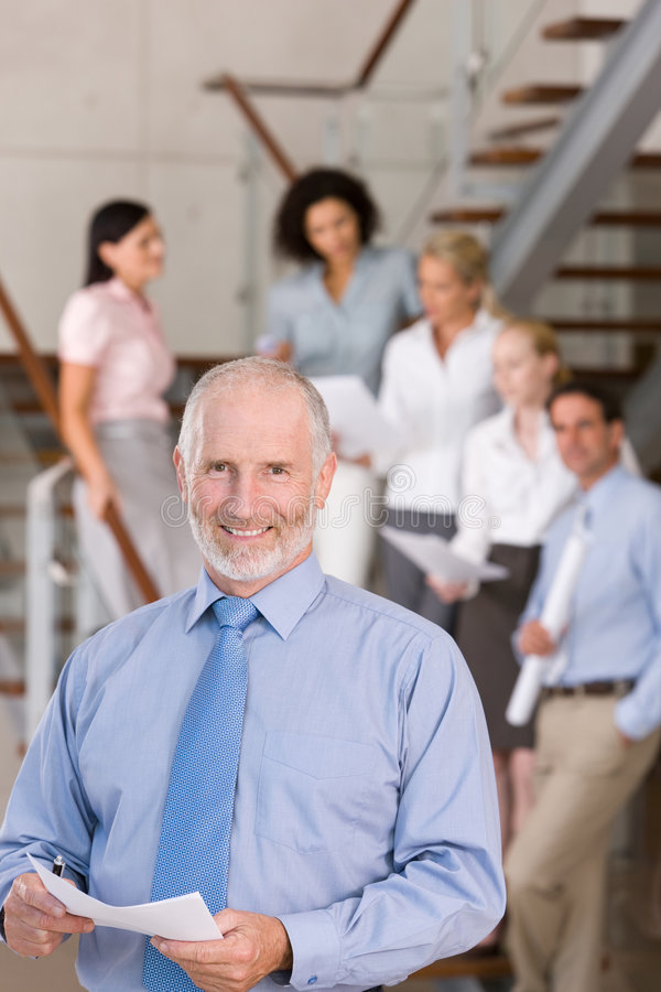 Portrait of business executive stock photography