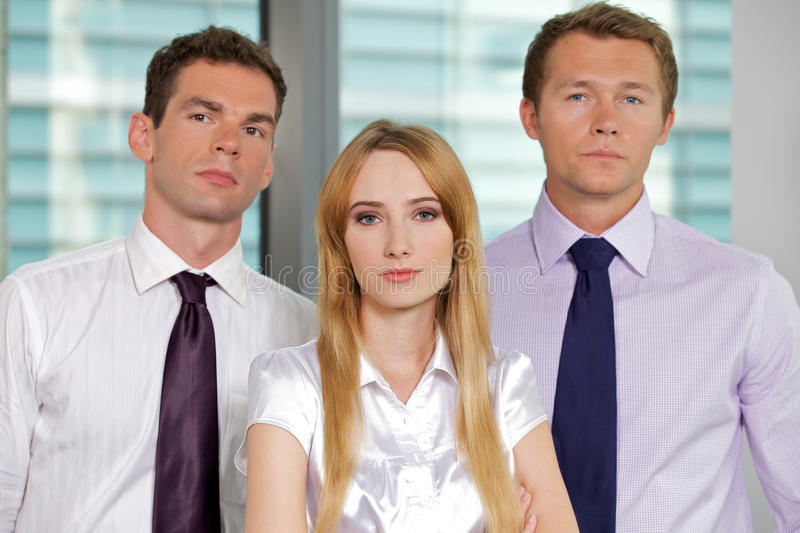 Portrait of business executives at office stock photography