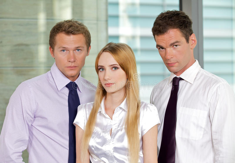 Portrait of business executives at office royalty free stock image