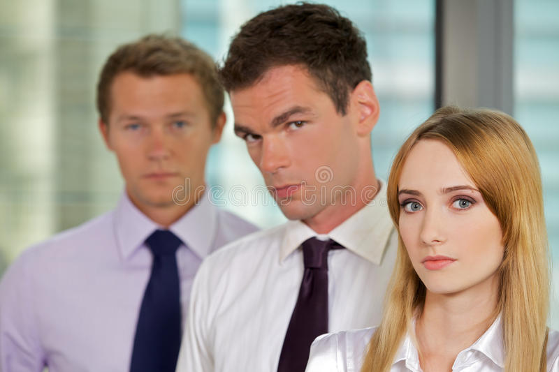 Portrait of business executives at office stock photo
