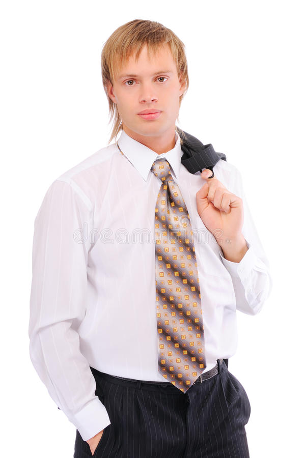 Portrait of business man stock image