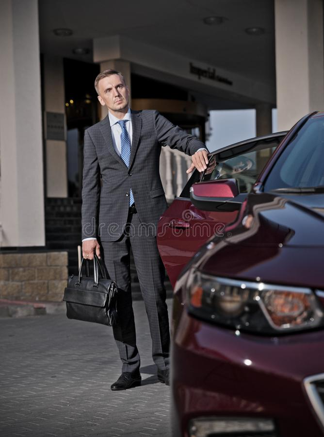 Portrait of business man HDR ver royalty free stock image