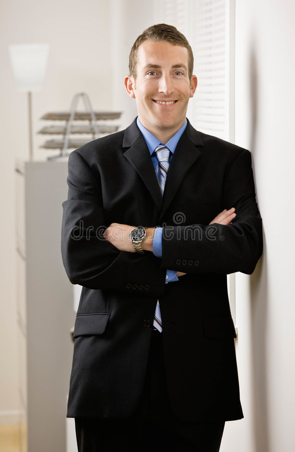 Portrait of business man in office royalty free stock photography