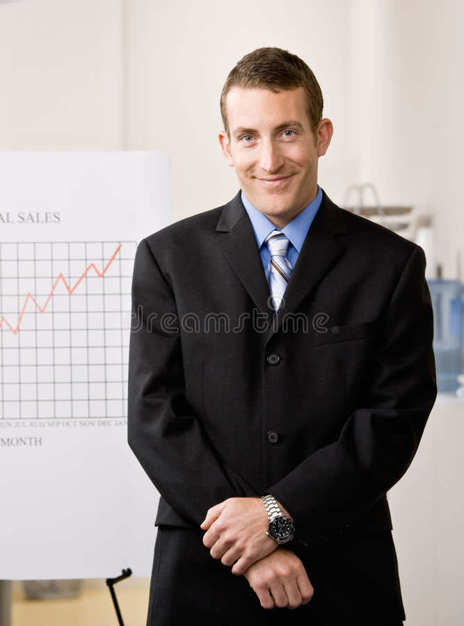 Portrait of business man in office royalty free stock photos