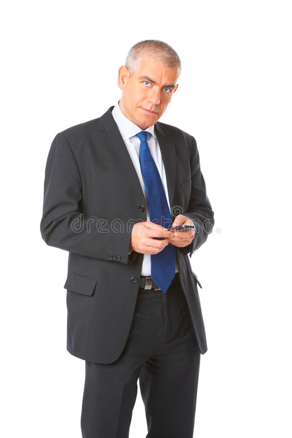 Download Portrait Of Business Man With Phone Stock Photo - Image: 13574614