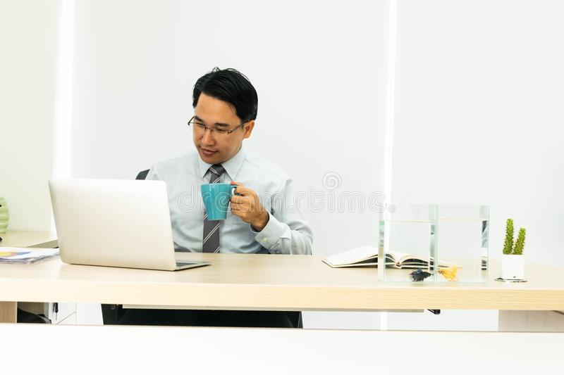 Business man is relax. royalty free stock photos