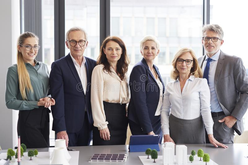 Portrait of business people in conference room royalty free stock photo