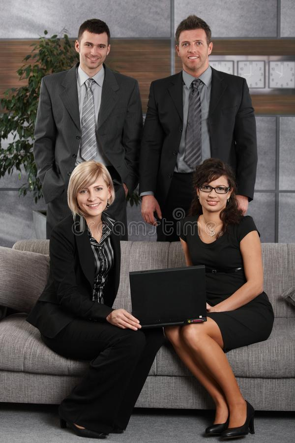 Portrait of business team in office stock photos
