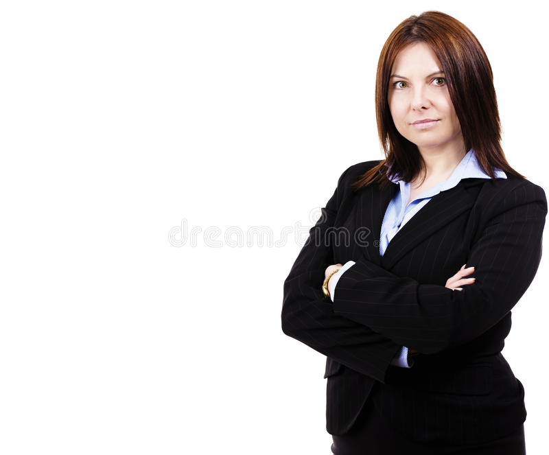 Download Portrait Of A Business Woman Stock Image - Image of isolated, manager: 24125461