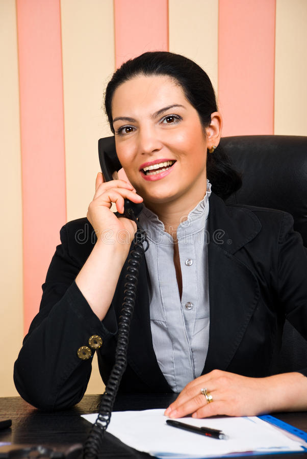 Download Portrait Of  Business Woman Calling By Telephone Stock Photography - Image: 14888642