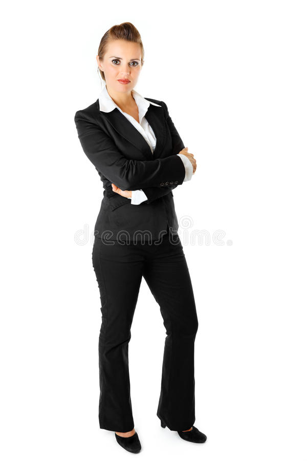 Portrait Business Woman With Crossed Arms On Chest Royalty Free Stock Photo
