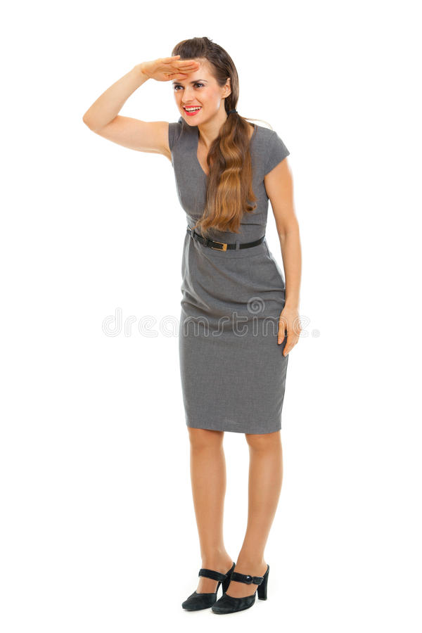 Portrait Of Business Woman Looking Into Distance Royalty Free Stock Photography