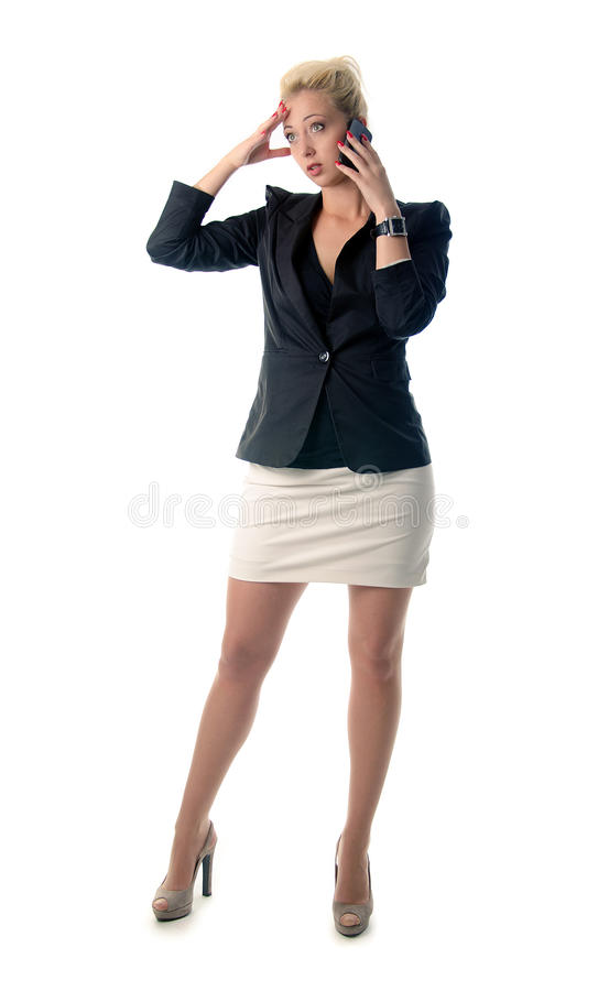 Download Portrait Of Business Woman Speaking On Mo Stock Photo - Image: 26308976