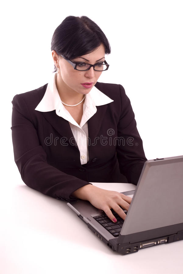 Download Portrait Of A Business Woman Working Royalty Free Stock Photo - Image: 13011405