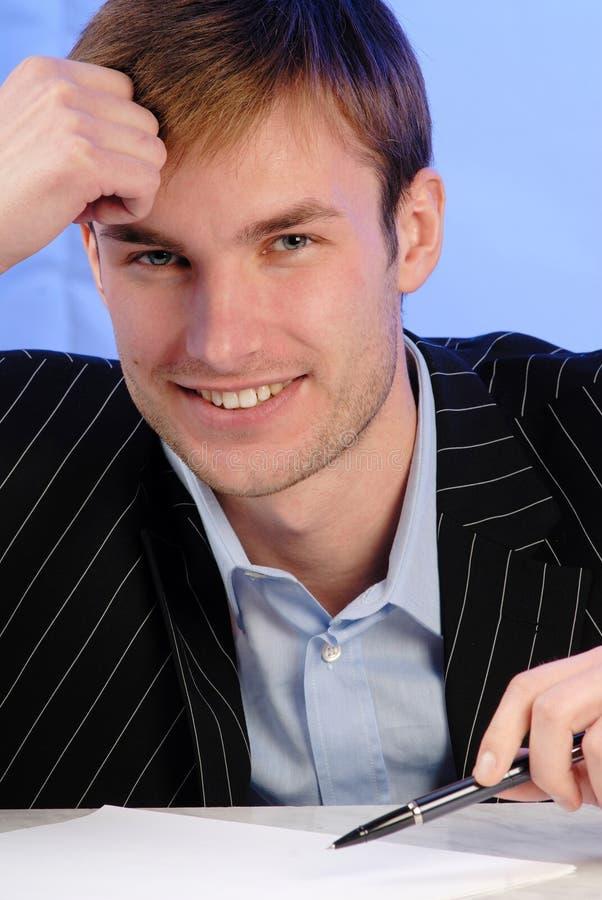 Portrait businessman stock image