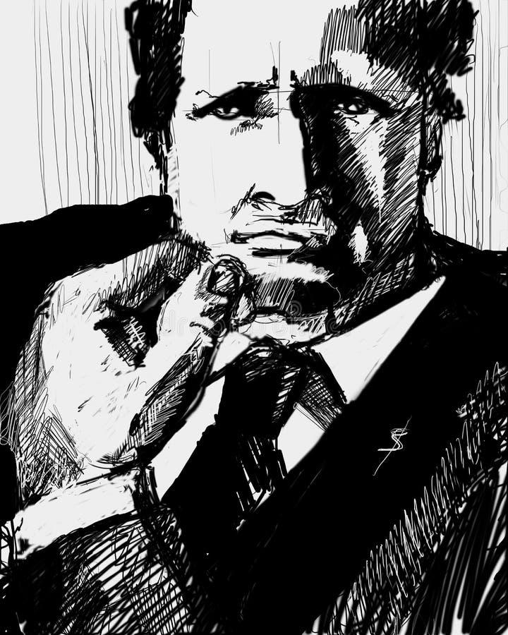 Download Portrait of businessman stock illustration. Illustration of funds - 464754