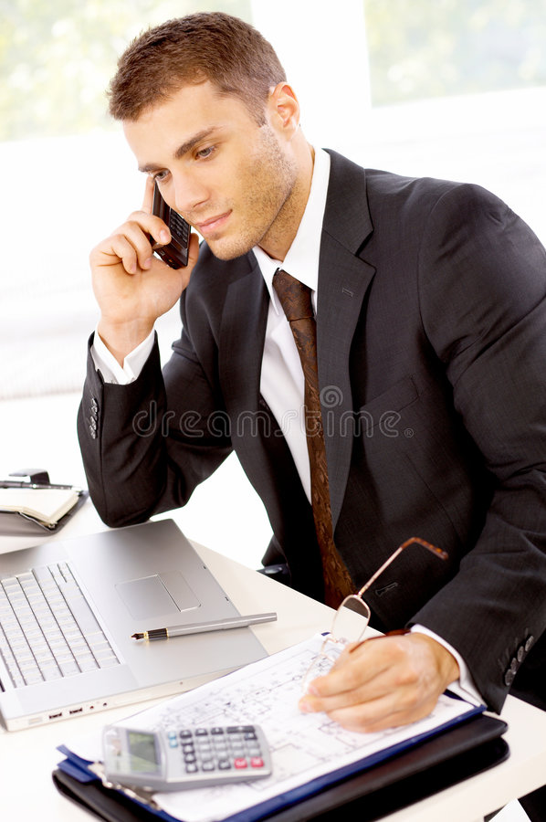 Download Portrait of Businessman stock image. Image of cell, color - 9305589