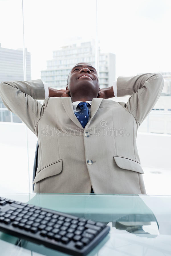 Download Portrait Of A Businessman Relaxing Stock Image - Image: 22693341