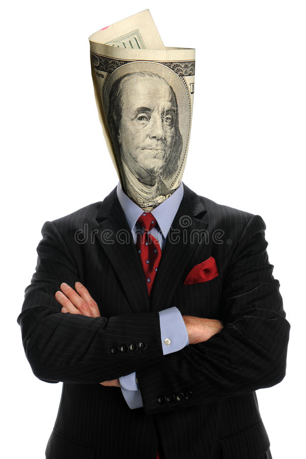 Download Portrait Of Businessman With US Bill Stock Photo - Image: 16783248