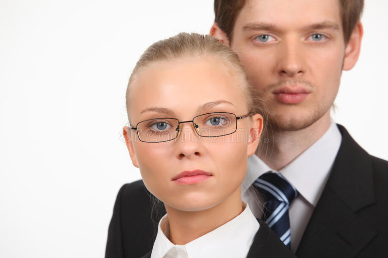 Download Portrait Of Businesswoman And Businessman Stock Photo - Image: 10353878