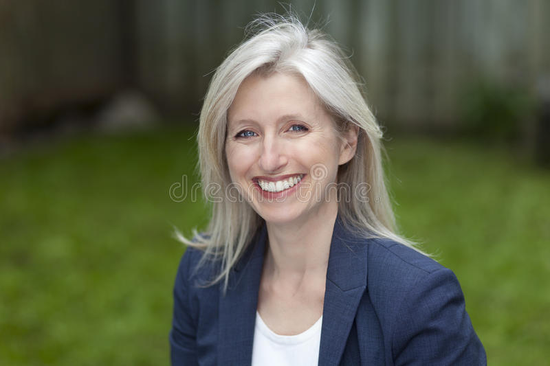 Portrait Of A Businesswoman Smiling At The Camera stock image