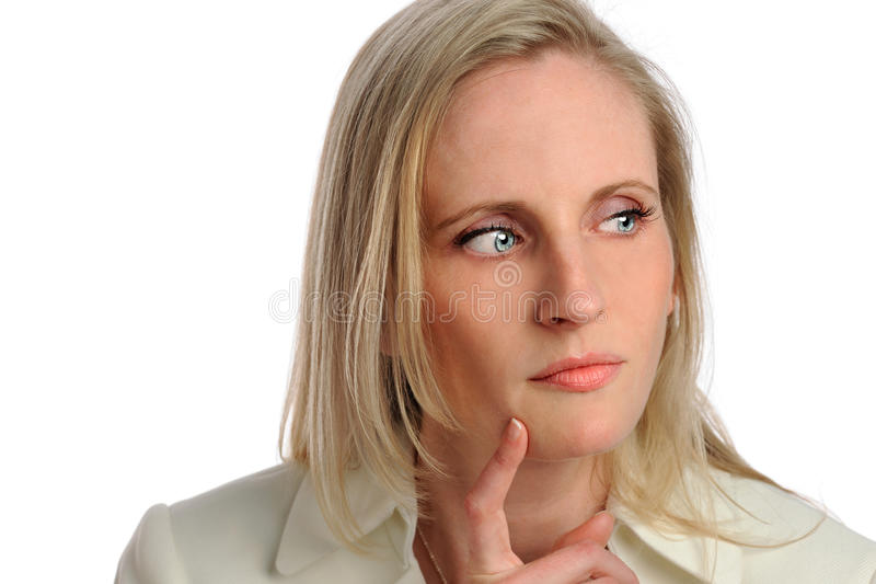 Download Portrait Of Businesswoman Thinking Stock Photo - Image: 26335438