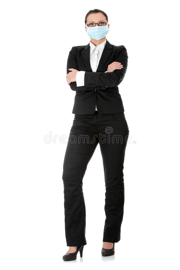 Portrait of businesswoman wearing protective mask