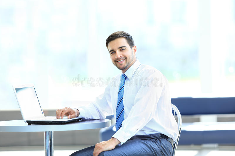 Download Portrait Of Busy Manager Typing On The Laptop Stock Image - Image of executive, collar: 33068645