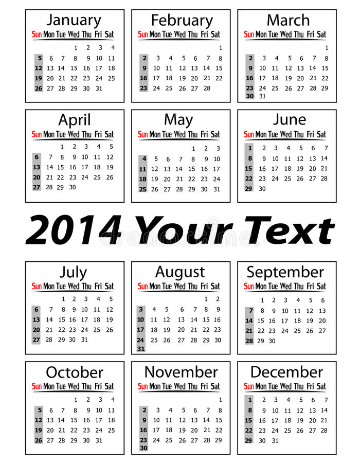 Download Portrait Calendar 2014  Illustration Stock Illustration - Image: 30666169