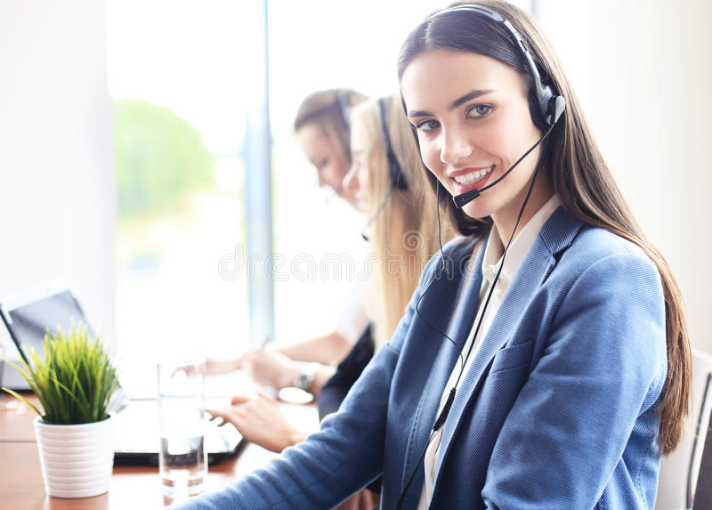 Portrait of call center worker stock photography