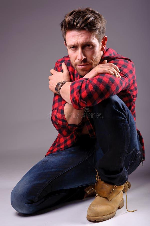 Download Portrait of a calm man stock image. Image of black, cotton - 25336627