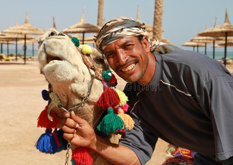 Download Portrait Of Camel And Beduin Stock Image - Image: 13990625