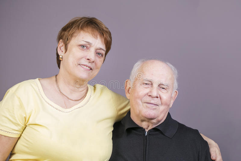 Portrait of a candid senior couple stock photo