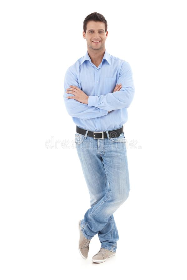 Portrait of casual businessman stock image
