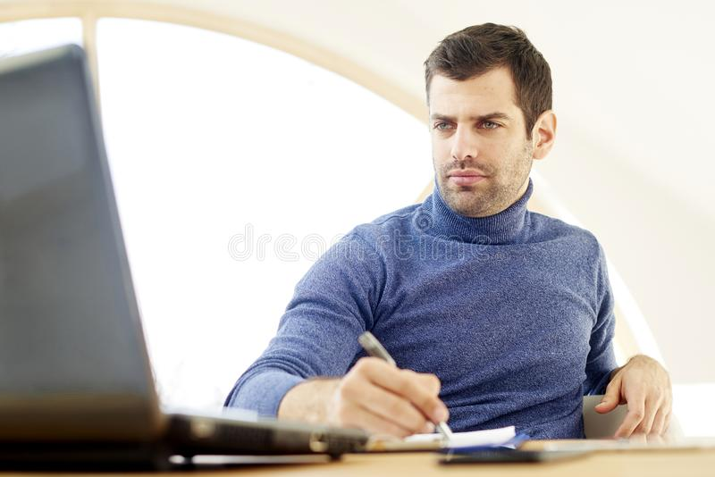 Young casual businessman portrait royalty free stock photography