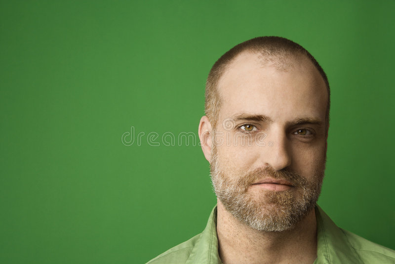 Portrait of Caucasian man. stock photography