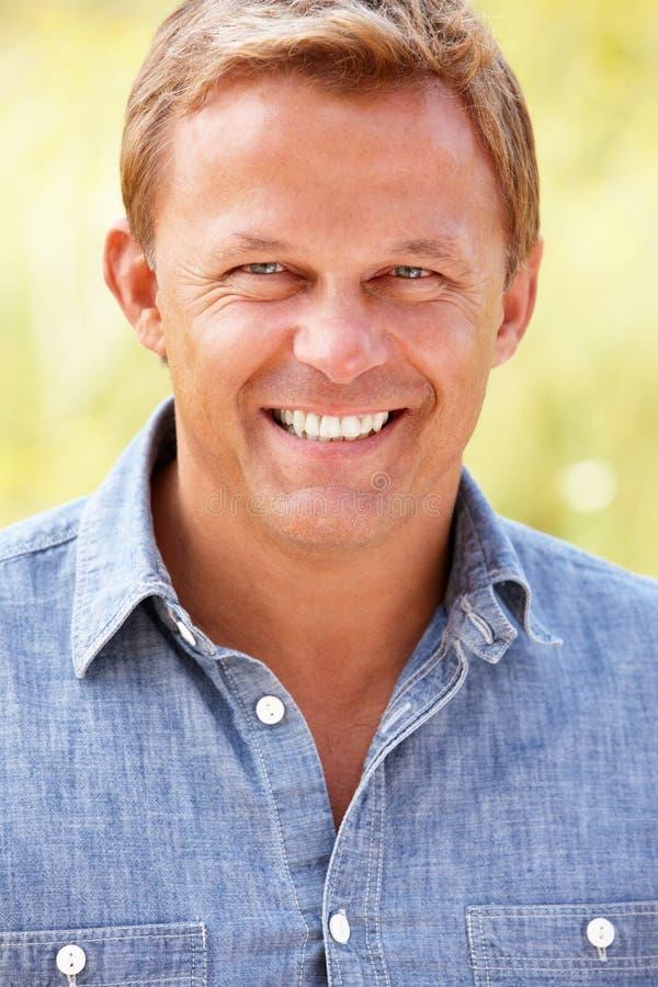 Portrait caucasian man outdoors stock image