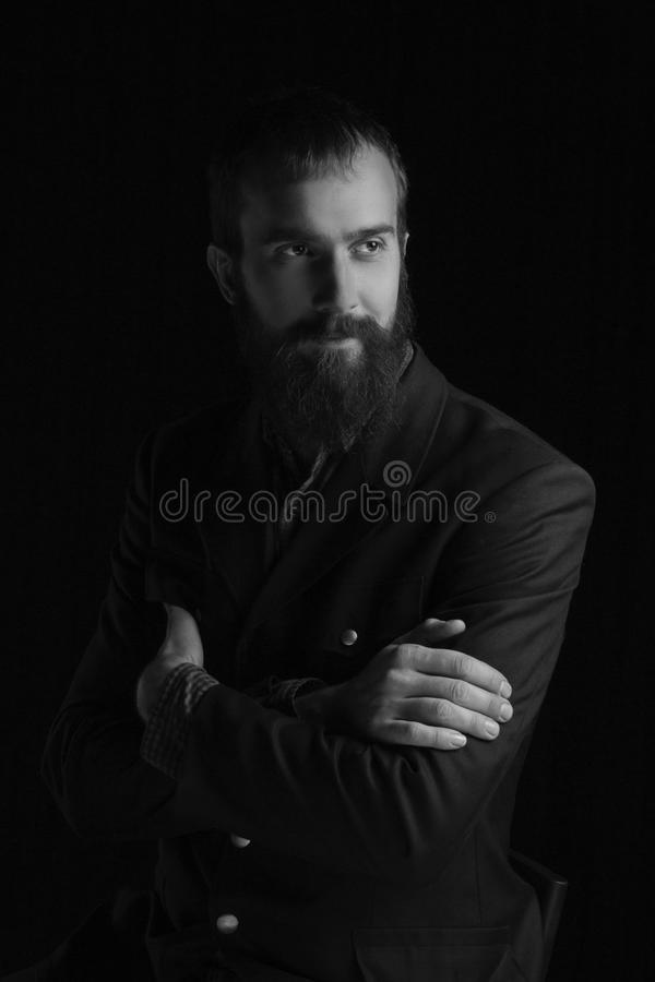 Portrait of a charismatic man royalty free stock photo