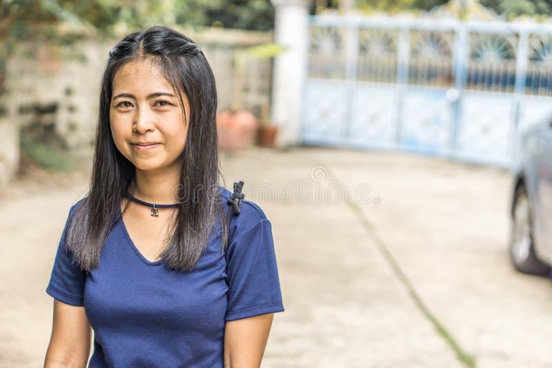 Portrait of charming Asian girl. stock image