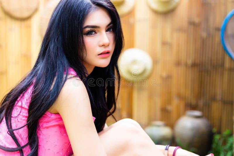 Portrait charming beautiful woman. Attractive beautiful girl has stock photos