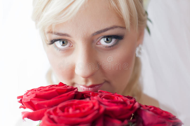 Portrait of a charming bride stock image