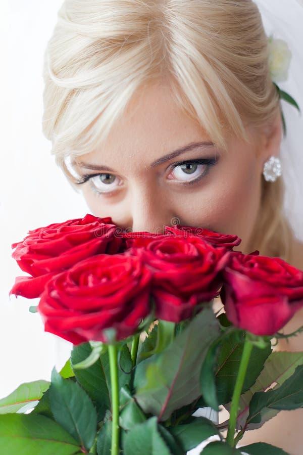 Portrait of a charming bride stock images