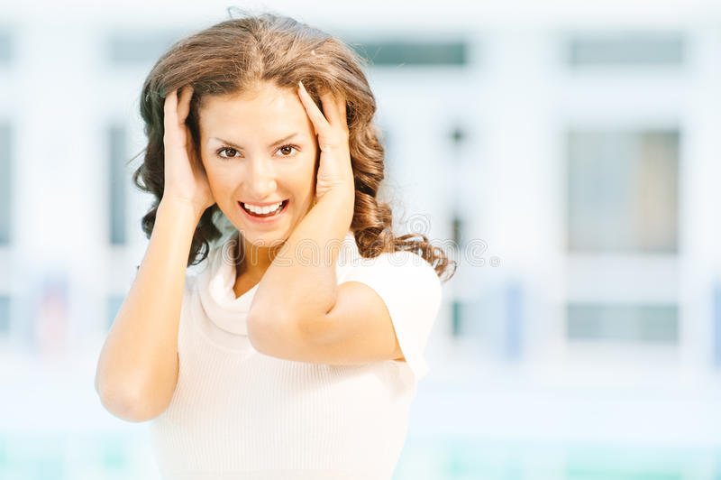 Download Portrait Of Charming Dark-haired Stock Image - Image: 19732369