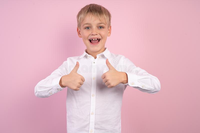 Portrait charming kid advertise novelty information sale discount recommend present, feedback positive cheerful enjoy trendy white. Shirt stylish trendy stock images
