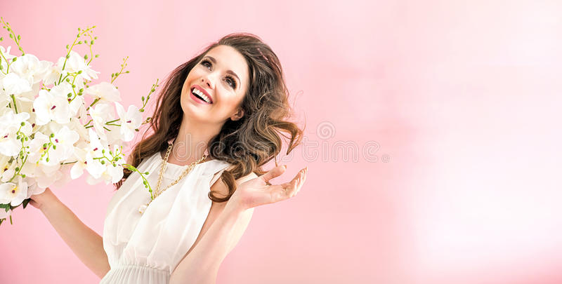 Portrait of a charming young woman stock photography
