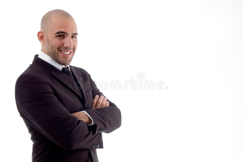 Portrait Of Cheerful Accountant Stock Images