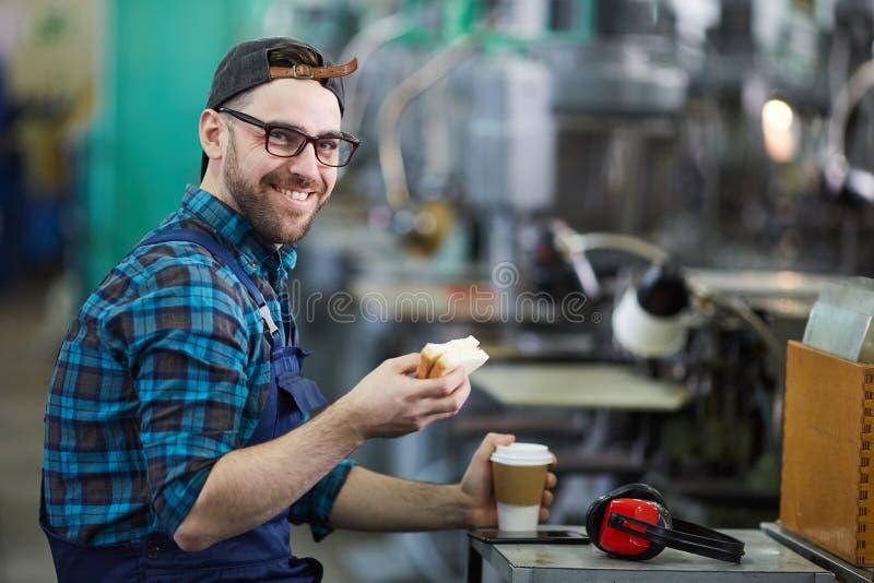 Lunch Break at Work stock photo