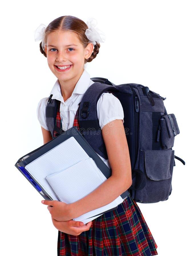 Download Portrait Of Cheerful Schoolgirl Stock Photo - Image: 31539906