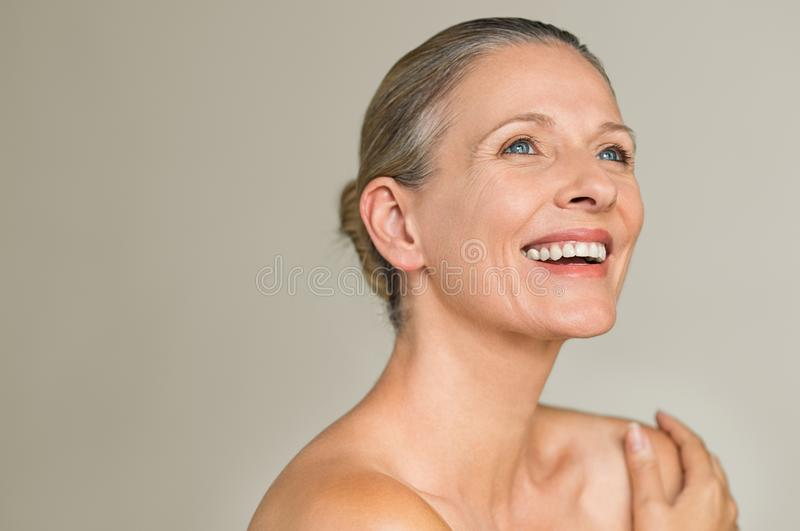 Mature women smiling nude Beauty Mature Woman Laughing Stock Photo Image Of Aged Laugh 120991426