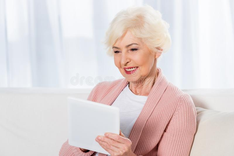 portrait of cheerful senior woman royalty free stock photography